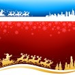 Santa approaching Christmas Backgrounds — Stock Vector