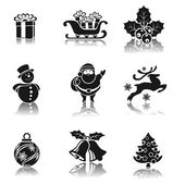 Christmas decorative icons set — Stockvektor