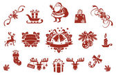 Christmas decorative elements set — Stock Vector