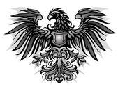 Eagle Emblem Black and White — Stock Vector