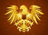 Golden Eagle Silhouette — Stock Vector