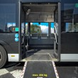 Disable ramp on bus - Stock Photo