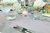 Wedding table setup — Stock Photo