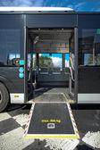 Disable ramp on bus — Stockfoto