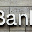 Stock Photo: Bank sign