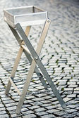 Iron small table at outside — Foto de Stock