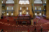 Mosque interior with lights in Edirne, Turkey — Stock Photo