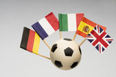 Soccer Ball with European Country Flag — Stock Photo