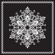 Stock Vector: White snowflake