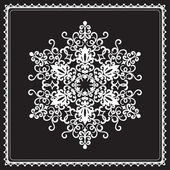 White snowflake — Stock Vector