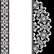 White lace on black - Stock Vector
