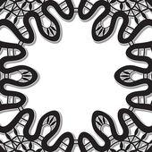 Zwarte kant vignet — Stockvector