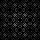 Vortici nero modello — Vettoriale Stock