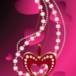 Jewelry and hearts — Stock Vector