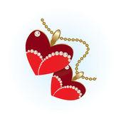 Heart pendants — Stock Vector