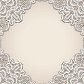 Old lace background — Vettoriale Stock