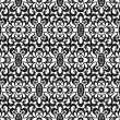 Seamless black lace pattern — Stock Vector