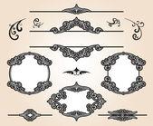 Set di elementi di design vintage — Vettoriale Stock