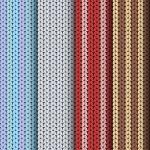 patrons pour tricot définie — Vecteur
