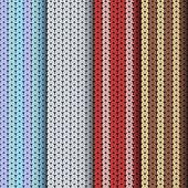 Knitting patterns set — Stock Vector