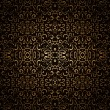 Stock vektor: Dark gold pattern