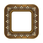 Gold picture frame — Stock Vector