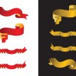Ribbon banners set — Stock Vector