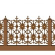 Decorative fence - Stock Vector