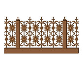 Decorative fence — Stock Vector