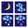 Stock Vector: Night weather icons