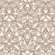 Vintage beige seamless pattern — Stock Vector