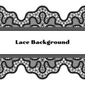 Black lace background — Stock Vector