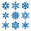 Vecteur: Snowflakes set