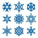 los copos de nieve juego — Vector de stock