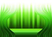 Zelené záclony a divadelní — Stock vektor