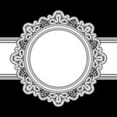 White lace frame — Stock Vector