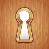 Key hole — Stock Vector