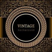 Fondo de oro vintage — Vector de stock