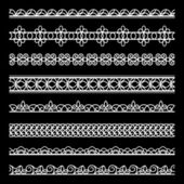 Lace borders set — Stock Vector