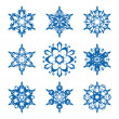 Snowflake set — Vector de stock #35161761
