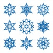 Stock Vector: Snowflake set
