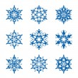 Snowflake set — Stockvektor