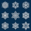 Stockvektor : Snowflake set