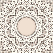 Old lace background — Stock Vector