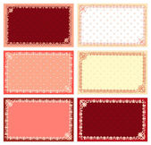 Lace card set — Stock Vector
