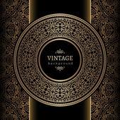 Sfondo vintage oro — Vettoriale Stock