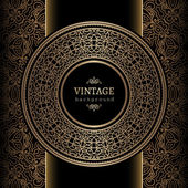 Vintage gold background — Stock Vector
