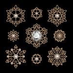 Gold jewelry set — Stock Vector