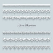 Set of lace borders — Stock Vector