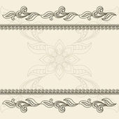 Vintage decorative frame — Stock Vector